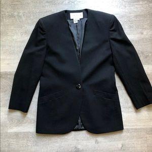 Jones New York black wool blazer size 4
